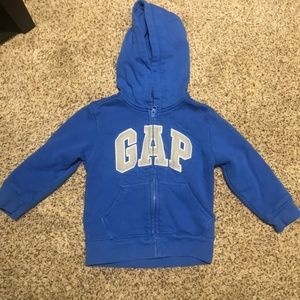 Bundle of Baby Gap zip-up hoodies (2)
